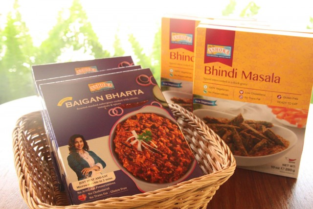 BAIGAN BHARTA(ナスのカレー)&BHINDI MASALA(オクラのカレー)」(乳製品使用)どちらも北インドの代表的なベジタブルカレー